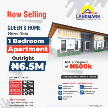 8 Luxurious Units of 1 Bedroom Apartment in a Beautiful Estate., Queens Homes, Around International Breweries, Mowe Ofada, Ogun, Terraced Bungalow for Sale