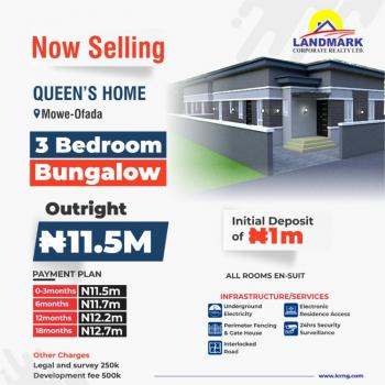 5 Luxurious Units of 3 Bedroom Apartments in a Serene Estate., Queens Homes, Around International Breweries, Mowe Ofada, Ogun, Terraced Bungalow for Sale