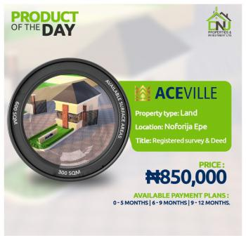 Sharp Land, Ace Ville Estate, Epe, Lagos, Residential Land for Sale