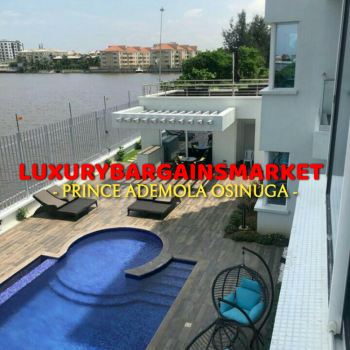 Well Finished Newly Built Waterfront 3 Bedrooms Apartment, Banana Island, Ikoyi, Lagos, Flat for Rent