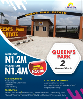Dry Land, Queens Park Estate, Mowe Ofada, Ogun, Residential Land for Sale