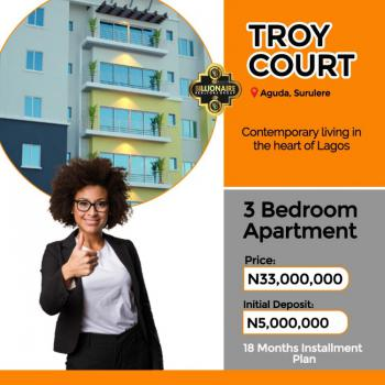 3 Bedroom Apartment, Troy Court, Aguda, Surulere, Lagos, Block of Flats for Sale