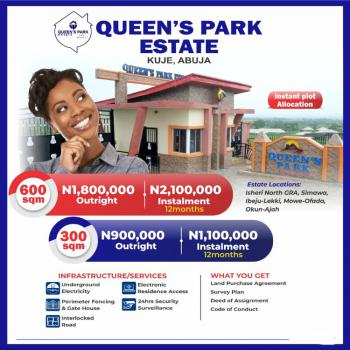 Land, Close to Nnamdi Azikiwe Airport, Queens Park Estate, Kuje, Abuja, Mixed-use Land for Sale
