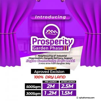 Plot of Estate Land in Good Location, Prosperity Garden, Beside Dangote Jetty, Before Lacampagne Tropicana, Ogogoro, Ibeju Lekki, Lagos, Residential Land for Sale