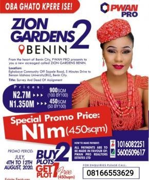 Dry Land, Zion Luxury Garden Estate, Igueben, Edo, Mixed-use Land for Sale