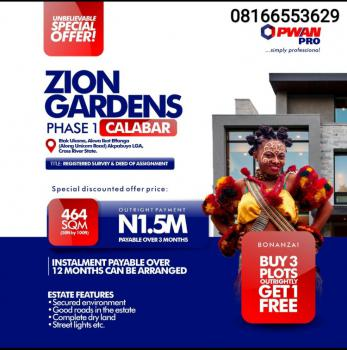 Land, Zion Luxury Garden, Calabar, Cross River, Mixed-use Land for Sale