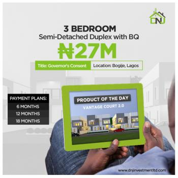 Affordable Luxury 3 Bedroom Semi Detached Duplex with Bq, By Bogije Town., Lekki Phase 2, Lekki, Lagos, Semi-detached Duplex for Sale