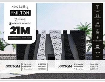 Land Measuring 500 Sqm, The Milton Estate, Awoyaya, Ibeju Lekki, Lagos, Land for Sale