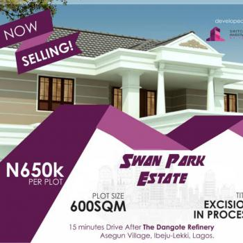 Plot of Land, Size of Land-600sqm, Swan Park Estate, Asegun, Ibeju Lekki, Lagos, Industrial Land for Sale