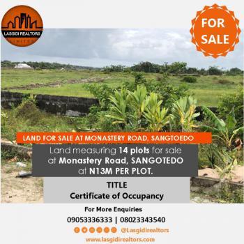 Land Measuring 14 Plots, Monastery Road, Behind Novare Mall, Sangotedo, Ajah, Lagos, Land for Sale