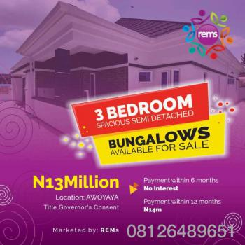 Luxury 3 Bedrooms Spacious Semi Detached Bungalow, Awoyaya, Ibeju Lekki, Lagos, Semi-detached Bungalow for Sale