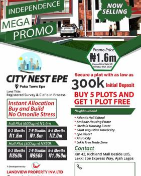 Serviced Plots Land, Citynest Estate, Epe, Lagos, Residential Land for Sale