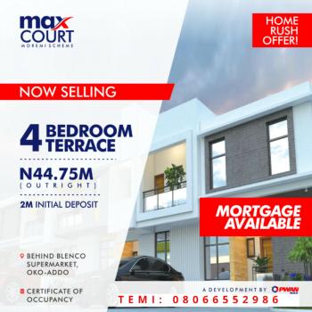 4 Bedroom Terrace Duplex at Max Court Estate, Behind Blenco Supermarket, Oko-ado Moremi Scheme, Sangotedo, Ajah, Lagos, Terraced Duplex for Sale