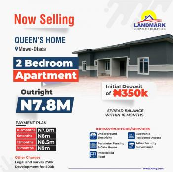 Captivating Terraced 2 Bedroom Duplex with Modern Amenities, Off Lagos- Abeokuta Expressway, Mowe Ofada, Ogun, Terraced Bungalow for Sale