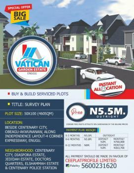 Residential Land in a Beautiful Location, Vatican Garden Estate  Obeagu Awkunanaw Enugu, Besides Centenary City., Independence Layout, Enugu, Enugu, Residential Land for Sale