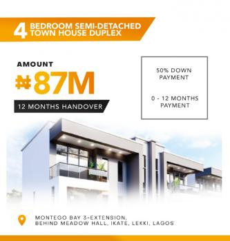 Luxury 4 Bedroom Semi-detached House with Maids Room., Montego Bay 3 Extension, Ikate, Lekki, Lagos, Semi-detached Duplex for Sale