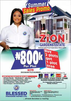 Excision in View, File Number Available, Behind Lekki Free Trade Zone, Zion Garden Estate, Ibeju Lekki, Lagos, Mixed-use Land for Sale