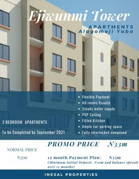 Luxury 3 Bedroom  Flat All En-suite, Alagomeji, Yaba, Lagos, Flat for Sale
