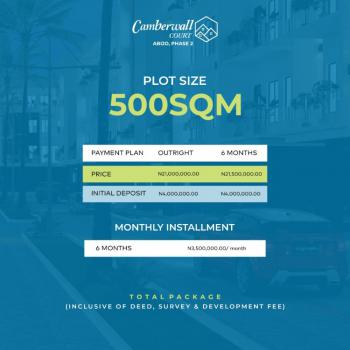 Dry Land, Camberwall Court, Abijo, Lekki, Lagos, Residential Land for Sale