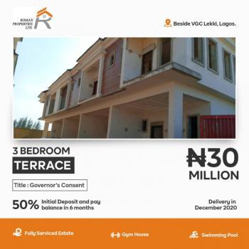 3 Bedroom Terraces, Romax Homes, Vgc, Lekki, Lagos, Terraced Duplex for Sale