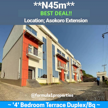 Amazing Duplex Deal in This Highbrow Location, Asokoro Extension...after African Community School, Asokoro District, Abuja, Terraced Duplex for Sale