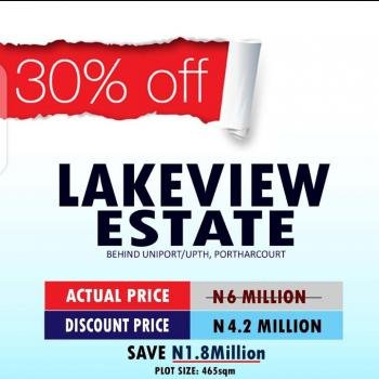 Lakeview Estate, Behind Uniport, Choba, Port Harcourt, Rivers, Residential Land for Sale