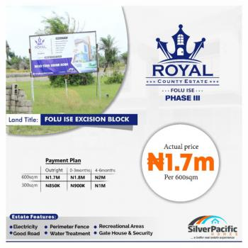 Land with Government Approved Excision, Royal County Estate Phase 3, Folu Ise, Ibeju Lekki, Lagos, Mixed-use Land for Sale