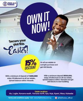 Residenstial Land at City Gate Estate, Opposite House on The Rock Church, Kukwaba, Abuja, Residential Land for Sale