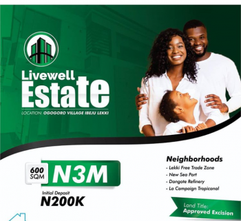 Completely Dry Land with a Good Title Is Every Smart Investor Joy!!, Ibeju Lekki, Lagos, Land for Sale