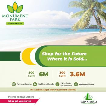 Excellent Plots of Land with Perfect Document in a Serene Location, Monument Park, Akodo-off Eleko Road., Orimedu, Ibeju Lekki, Lagos, Residential Land for Sale