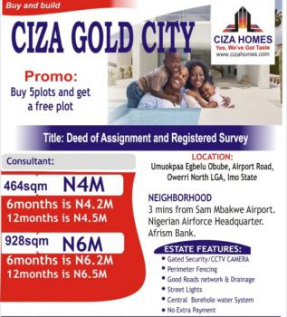 3mis From Sam Mbakwe Airport, Ciza Gold City Umuokpaa Egbelu Obube Airport Road, Owerri, Imo, Mixed-use Land for Sale