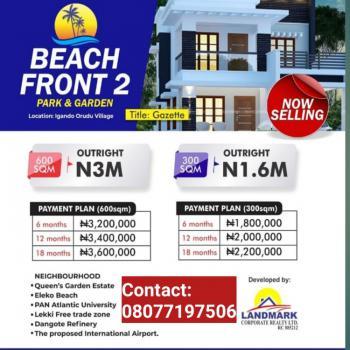 Affordable Beachfront Property with Gazette, Beachfront Estate Phase 2, Eleko, Ibeju Lekki, Lagos, Residential Land for Sale