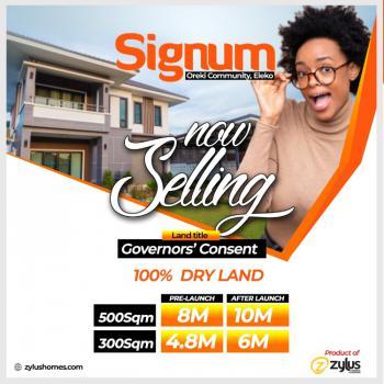 Premium Estate Land in Prime Location, Signum Estate, Eleko, Ibeju Lekki, Lagos, Residential Land for Sale