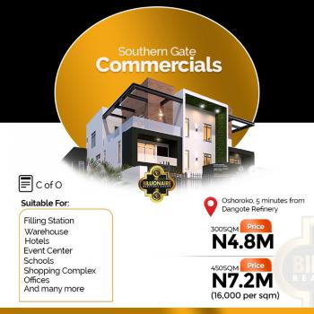 Land with C of O., Southern Gate Commercial  Osharoko 5 Minutes  From Dangote Refinery., Osoroko, Ibeju Lekki, Lagos, Commercial Land for Sale