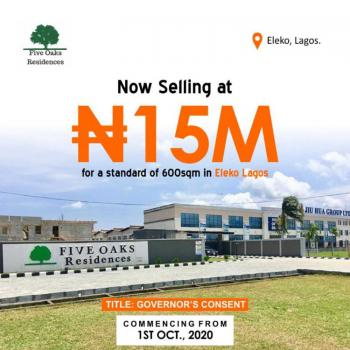 a Plot of Land (get a Discount Today)., Beside Jiu Hua Group., Eleko, Ibeju Lekki, Lagos, Residential Land for Sale