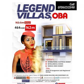 Legend Villas Oba, Ekwusigo, Anambra, Mixed-use Land for Sale