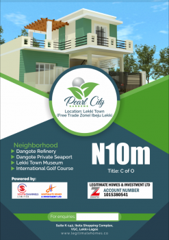 Land, Lekki Town, Peal City Gardens, Akodo Ise, Ibeju Lekki, Lagos, Mixed-use Land for Sale