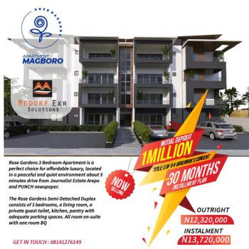 3 Bedrooms Apartment with Bq, Rose Gardens, Magboro, Berger, Arepo, Ogun, Semi-detached Duplex for Sale