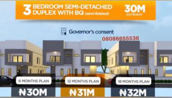 3 Bedroom Semi Detached Duplexes with 18 Months Payment Plan, Bogije, Sangotedo, Ajah, Lagos, Residential Land for Sale