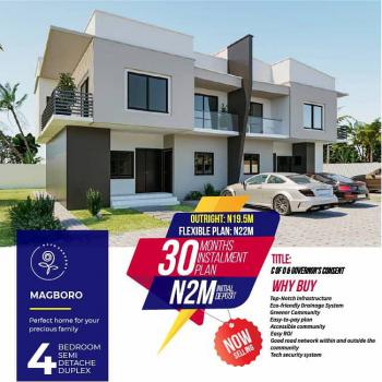 4 Bedrooms Semi Detached Duplex in a Residential Estate, Wemabod Estate, Before Mfm Camp, After Punch Newspaper, Magboro, Ogun, Semi-detached Duplex for Sale
