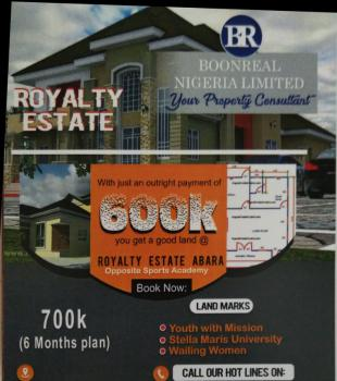 Land Available, Royal Estate Abara, Opposite Sports Academy, Etche, Rivers, Residential Land for Sale