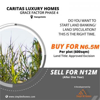 Residential Land with Tittle Approved Excision, Caritas Luxury Homes, Sangotedo, Ajah, Lagos, Residential Land for Sale