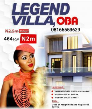 Land, Legend Villa Oba, Anambra, Anambra, Mixed-use Land for Sale