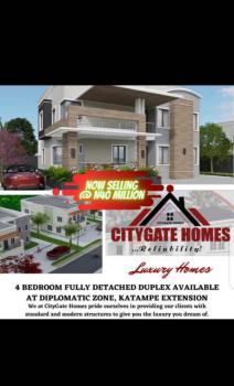 Solid Foundation 5 Bedrooms Fully Detached Duplex, Katampe Extension Around Ecowas Estate, Diplomatic Zones, Abuja, Detached Duplex for Sale