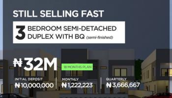 Buy 3 Bedroom Semi-detached Duplex with Bq, 18 Months Plan, Lekki Epe Expressway, Vantage Court 2.0, Bogije, Ibeju Lekki, Lagos, Semi-detached Duplex for Sale