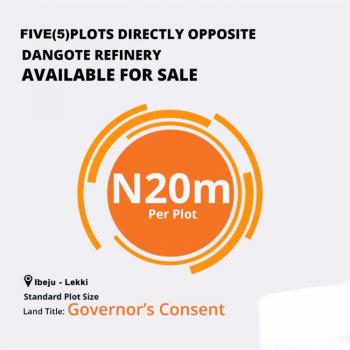 Commercial Land Directly, Directly Opposite Dangote Refinery, Eleko, Ibeju Lekki, Lagos, Commercial Land for Sale