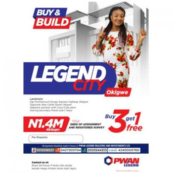 Plots of Dry Lands with Monthly Payment Plan, Legend City, Okigwe, Imo, Mixed-use Land for Sale