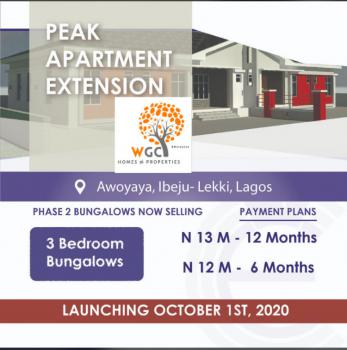3 Bedroom, Peak Apartments Extension Bungalows., Along Oribanwa Area Road Just Off The Lekki Epe Expressway By Davitec., Awoyaya, Ibeju Lekki, Lagos, Terraced Bungalow for Sale