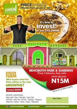 Adron Homes Estate with Installment Payment, Rehoboth Park and Gardens Phase 2 Extension, The Bridge Estate, Eleko, Ibeju Lekki, Lagos, Mixed-use Land for Sale