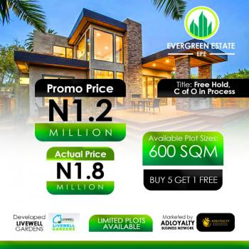 Total Dry Land in a Serene Environment with Good Road Network, Odo-egiri, Epe, Lagos, Residential Land for Sale